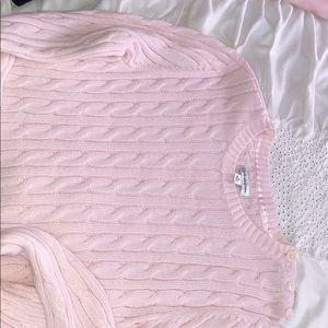 Pink Croft & Barrow sweater
